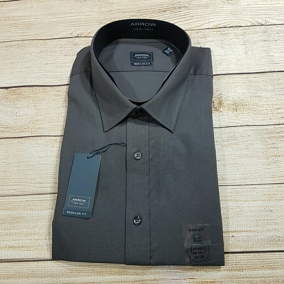 Nwt Arrow Long Sleeve Dress Shirt Gray Nwt